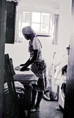Maid Ironing Clothes Sandton South Africa 1979
